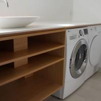 Badeværelsesmøbel I Eg Og Corian